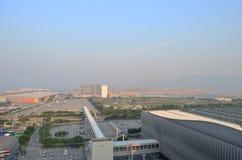 香港国际机场机场主楼 库存图片