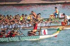 香港国际龙舟赛 库存照片
