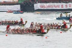 香港国际龙舟赛2016年 图库摄影