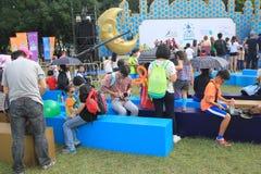 2015年香港在公园事件的狂欢节艺术 免版税库存照片