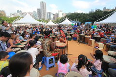 2015年香港在公园事件的狂欢节艺术 免版税库存图片