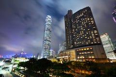 香港在晚上 库存照片
