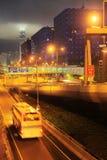香港在晚上 免版税库存照片