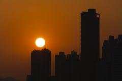香港地平线 库存图片