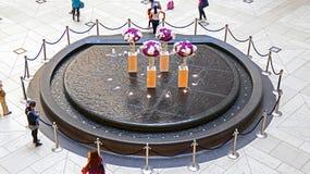 香港地标喷泉 免版税库存照片