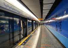 香港地铁车站 免版税图库摄影