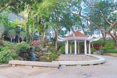香港城市大学的一个庭院 免版税库存照片