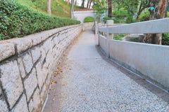 香港城市大学的一个庭院 免版税库存图片