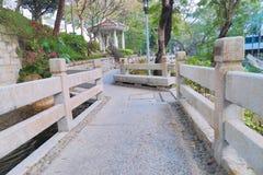 香港城市大学的一个庭院 图库摄影