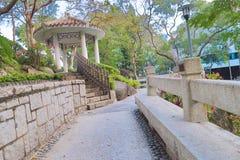香港城市大学的一个庭院 免版税图库摄影