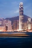 香港夜视图 库存图片
