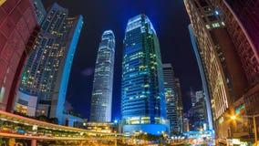 香港夜都市风景时间间隔 股票录像