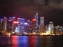 香港夜间线路 库存图片