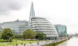 香港大会堂、碎片和其他大厦,伦敦 免版税库存照片