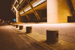 香港大会堂在晚上,在达拉斯,得克萨斯 图库摄影