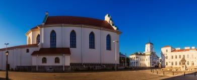 香港大会堂在米斯克,白俄罗斯 库存照片