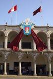 香港大会堂在阿雷基帕,秘鲁 免版税图库摄影