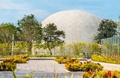 香港太空博物馆的看法在中国 免版税库存照片