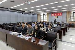 香港学生认真听 图库摄影