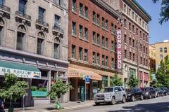 香港小餐馆签到唐人街西雅图华盛顿 免版税库存照片