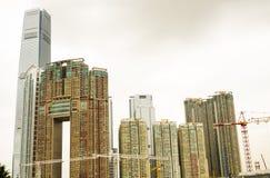 香港居民住房 库存图片