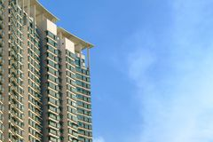 香港居民在高楼最将居住  由于 库存图片