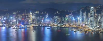 香港市全景 免版税库存照片