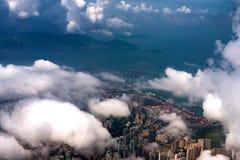 香港市和美丽的维多利亚港 免版税库存照片