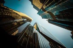香港市和Skyscape 库存照片