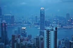 香港市场面在晚上 图库摄影