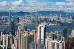 香港市的都市风景在香港,中国 免版税库存照片