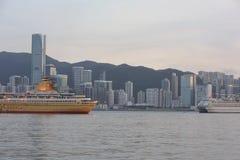 香港市维港在2014年 库存照片