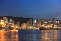 香港市维港在2014年 库存图片