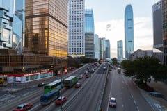 香港市街道视图  免版税库存照片