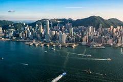 香港市视图-鸟瞰图 免版税库存照片