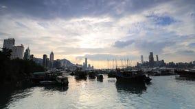 香港市视图 股票视频