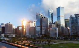 香港市,摩天大楼都市风景  免版税图库摄影