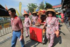 2015年香港张Chau小圆面包节日 免版税库存图片