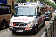 香港当班的警车 库存图片