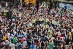 香港抗议者热  免版税库存图片