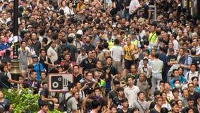 香港抗议者隔离 库存照片
