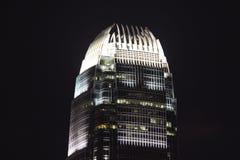 香港摩天大楼- IFC大厦上面  免版税库存图片