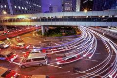 香港晚上业务量 免版税库存图片