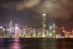 香港晚上地平线 图库摄影