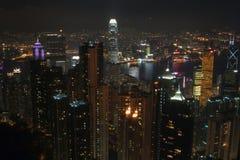香港晚上场面 免版税库存照片