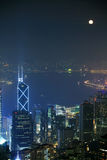 香港晚上场面 免版税库存图片