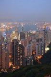 香港晚上 图库摄影