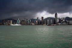 香港横向 库存照片