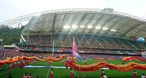 香港橄榄球Sevens 2018年 库存照片