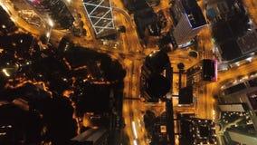 香港海岛夜视图  股票 摩天大楼在香港的商业中心 香港是一个普遍的游人 免版税库存照片